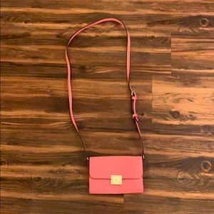 A New Day coral evening bag